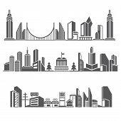 downtown skyline, city skyline