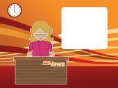 female news reader