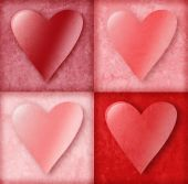 Valentine Hearts in Boxes