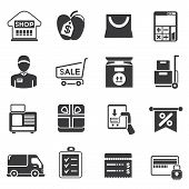 pic of bartering  - set of 16 shopping and supermarket icons - JPG