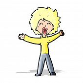 cartoon woman shouting