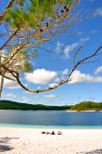 pic of mckenzie  - Lake McKenzie is one of the popular freshwater lake at Fraser Island Australia - JPG