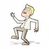cartoon man panicking
