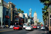 Los Angeles, CA - MAY 18: Hollywood street view on May 18, 2014 in Los Angeles. Started as a small c