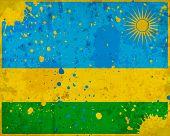 Grunge Rwanda Flag With Stains