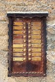 antique doorbells with free space for text