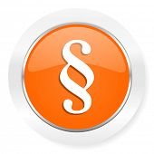 paragraph orange computer icon