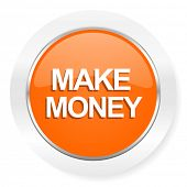 make money orange computer icon