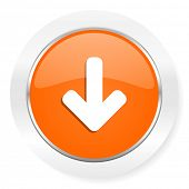 download arrow orange computer icon