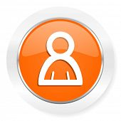 person orange computer icon
