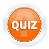 quiz orange computer icon