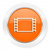 movie orange computer icon