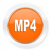 mp4 orange computer icon