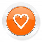 heart orange computer icon