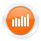 graph orange computer icon