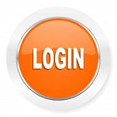 login orange computer icon