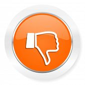 dislike orange computer icon