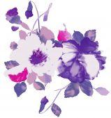 Watercolor Of Purple Floral
