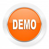 demo orange computer icon