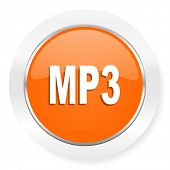 mp3 orange computer icon