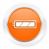 battery orange computer icon