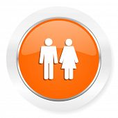 couple orange computer icon