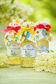 Bottles With Elderflower Syrup