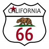 Route 66 California Flag
