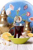 Tea With Turkish Delight And Lemon