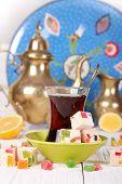 Turkish Tea With  Oriental Sweets