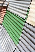 Colored Corrugated Iron Sheets As Background