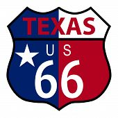 Route 66 Texas Sign And Flag