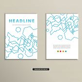 Book cover with abstract linear circuits eps