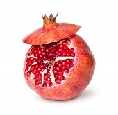 Delicious Exotic Pomegranate Fruit With Lid