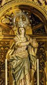 Mary Crown Statue Basilica Santa Iglesia Collegiata De San Isidro Madrid Spain