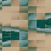 Old-style background, aging texture. With different color patterns: gray; brown; green; blue; cyan