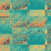 Grunge texture, distressed background. With different color patterns: yellow; orange; blue; cyan