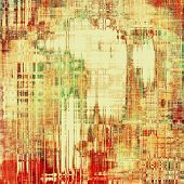 Ancient grunge background texture. With different color patterns: green; red; orange; brown; yellow