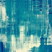 Designed grunge texture or background. With different color patterns: blue; cyan; white