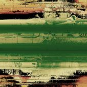 Old, grunge background or ancient texture. With different color patterns: gray; green; brown; yellow