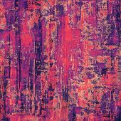 Abstract grunge background with retro design elements and different color patterns: purple (violet); red; pink