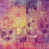 Antique vintage texture or background. With different color patterns: purple (violet); pink; orange; yellow