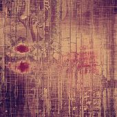 Grunge old-fashioned background with space for text or image. With different color patterns: purple (violet); brown; pink