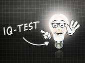 Iq Test Bulb Lamp Energy Light Blackboard