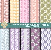 10 Retro Seamless Patterns.thai pattern