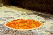Pizza Whit Tomato Sauce