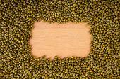 Mung Beans With Rectangular Copy Space