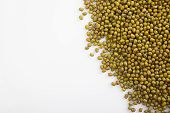 Mung Beans With White Copy Space