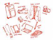 Business Trip Kits Illustration