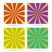 set of sunburst backgrounds.